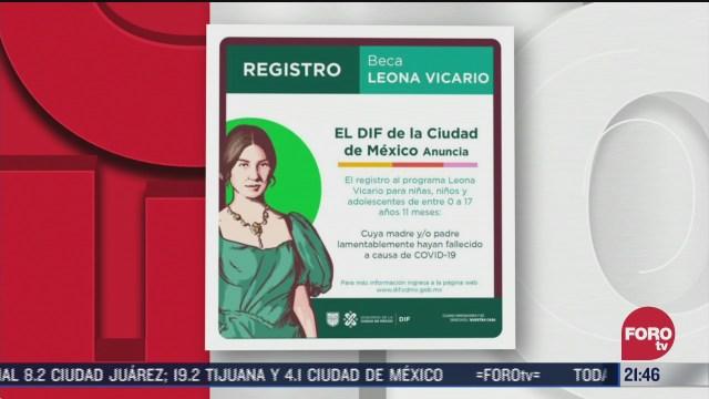Beca Leona Vicario daran 900 pesos al mes a ninos que hayan perdido a sus padres por covid