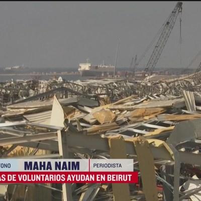 Decenas de voluntarios ayudan en Beirut, Líbano