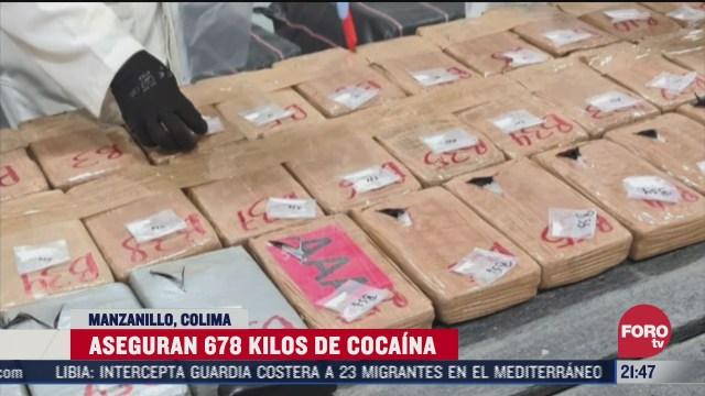 Decomiso de cocaína en Puerto de Manzanillo Colima