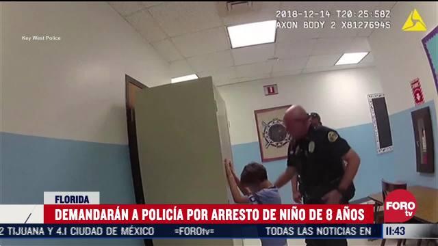 demandaran a policias por arresto de nino de 8 anos en florida