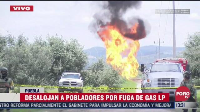 desalojan a pobladores por fuga controlada de gas en puebla