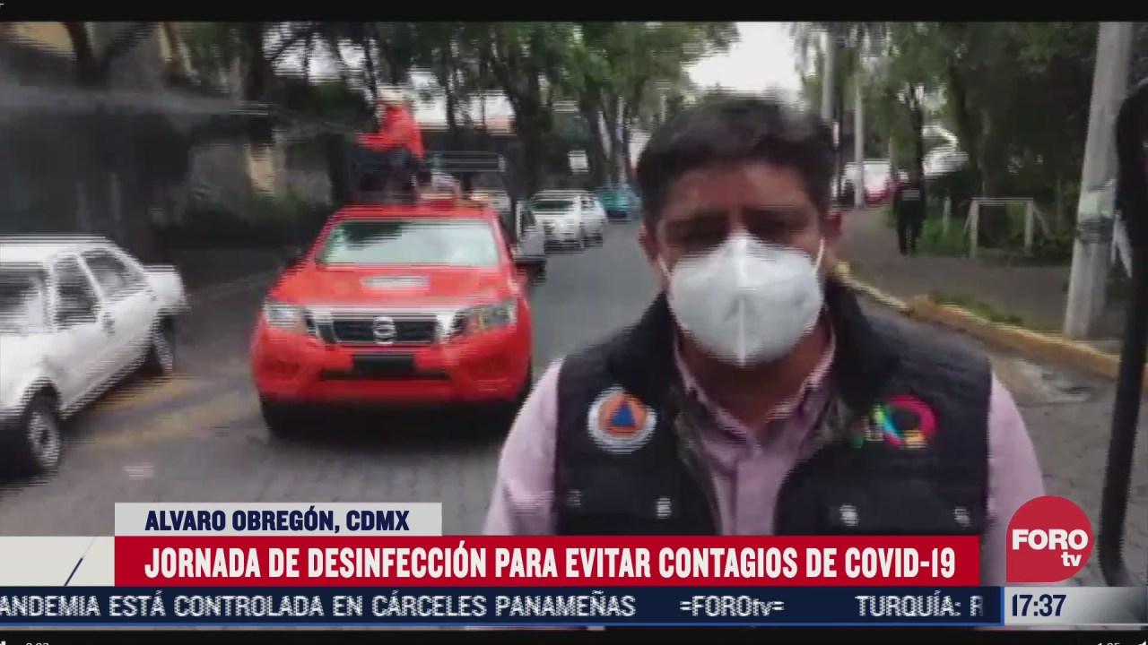 desinfectan calles y transporte publico de la alcaldia alvaro obregon