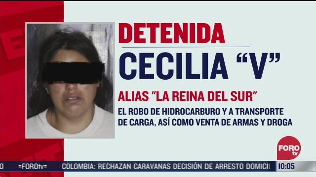 FOTO: 8 de agosto 2020, detienen a cecilia v alias la reina del sur en puebla