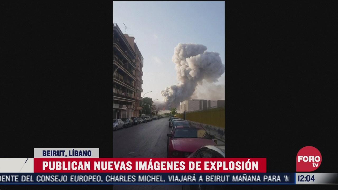 divulgan nuevo video de la explosion en beirut libano