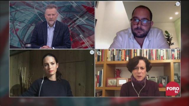 Leo Zuckermann, Denise Dresser, Pablo Majluf y Alexandra Zapata debaten sobre la aprobación de AMLO