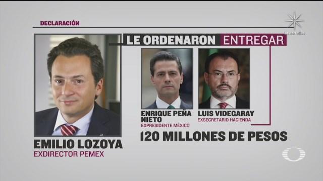 Emilio Lozoya presenta denuncia de hechos por casos de corrupción que involucra a Luis Videgaray y Enrique Peña Nieto EPN