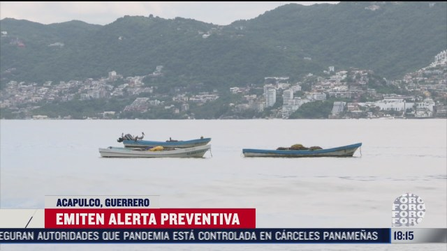 emiten alerta preventiva en acapulco por cercania de baja presion