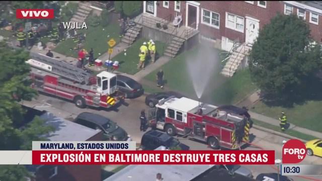 explosion en baltimore destruye casas