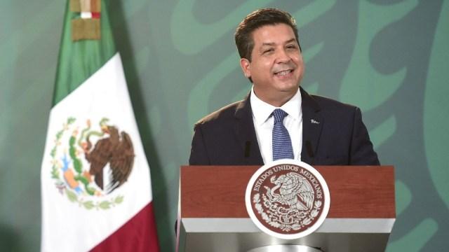 El gobernador de Tamaulipas, Francisco García Cabeza de Vaca, en la conferencia mañanera