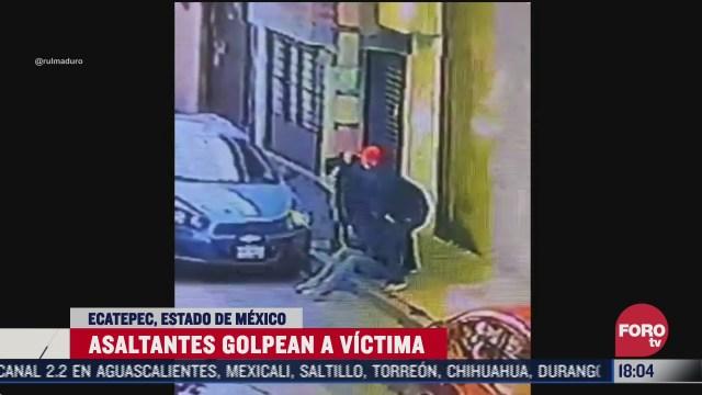 golpean a joven durante asalto en ecatepec edomex