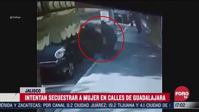 graban intento de secuestro de mujer en guadalajara
