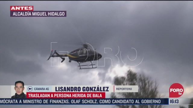 helicoptero condor traslada a hombre herido de bala en cdmx