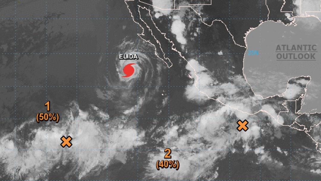 Huracán 'Elida' se debilita a categoría 1 lejos de las costas mexicanas