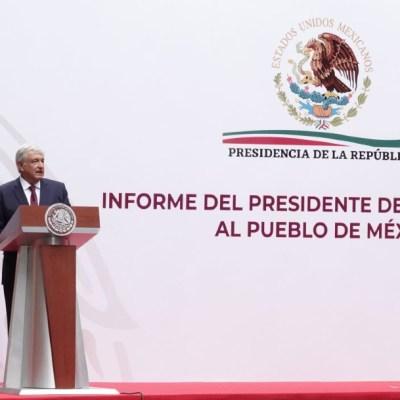 El presidente Andrés Manuel López Obrador ofrece un mensaje a la nación