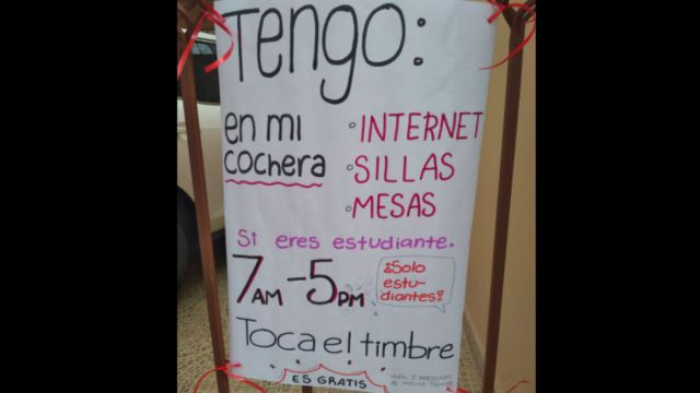 Mama ofrece internet gratis a estudiantes