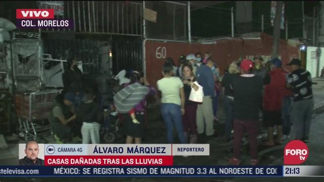 familias afectadas por inundacion en 33 casas en la colonia morelos cdmx