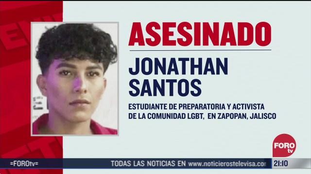 investigan asesinato de jonathan santos estudiante y activista lgbt