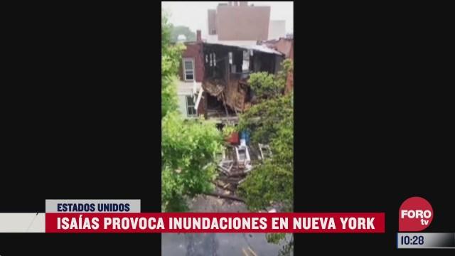isaias provoca inundaciones en nueva york