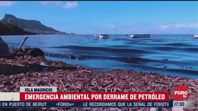 isla mauricio declara emergencia ambiental por derrame de petroleo
