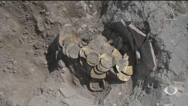 jovenes encuentran vasija con monedas de oro de hace 1100 anos en israel
