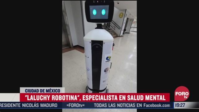 laluchy robotina el androide mexicano que evita contagios de covid