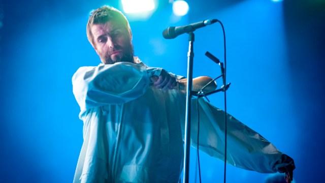 Fotografía del excantante de la banda británica Oasis, Liam Gallagher, durante un concierto