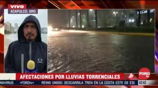 lluvia provoca inundaciones en al menos 3 colonias de acapulco guerrero