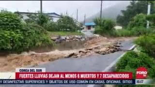 FOTO: 2 de agosto 2020, lluvias en corea del sur dejan 7 muertos