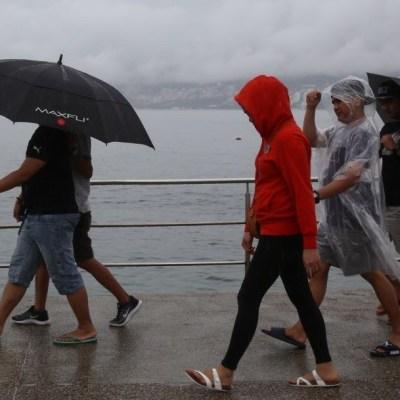 lluvias en puerto de acapulco, guerrero