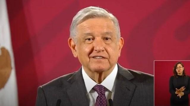 López Obrador en su conferencia matutina desde Palacio Nacional