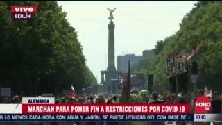 FOTO: 1 de agosto 2020, marchan en alemania para poner fin a restricciones por covid