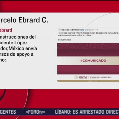 México apoyará a Beirut
