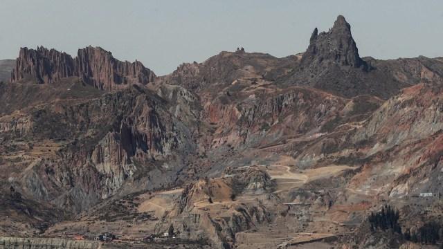 Montaña conocida como La Muela del Diablo, en La Paz, Bolivia