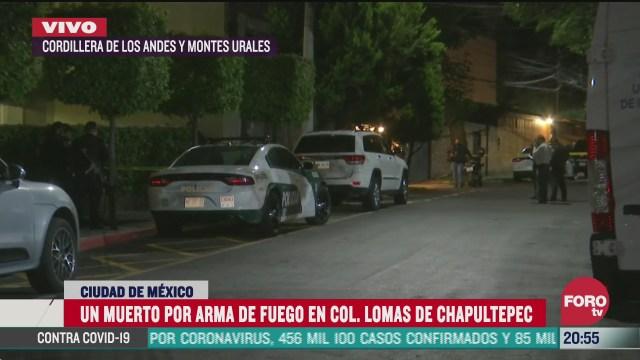 muere hombre baleado en lomas de chapultepec cdmx