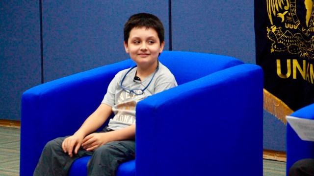 El niño genio ha estudiado varios diplomados en la UNAM y España