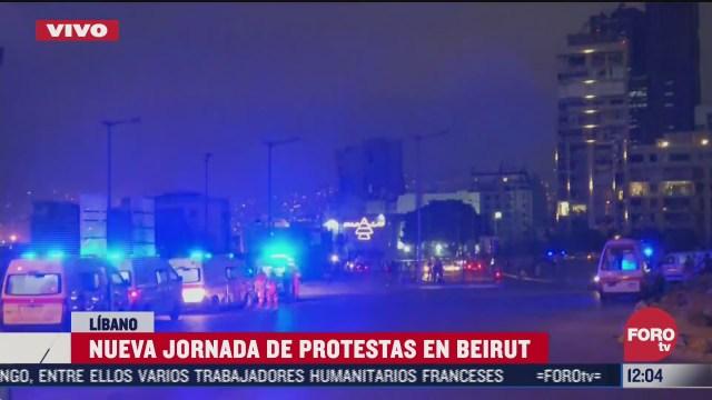 nueva jornada de protestas en beirut libano