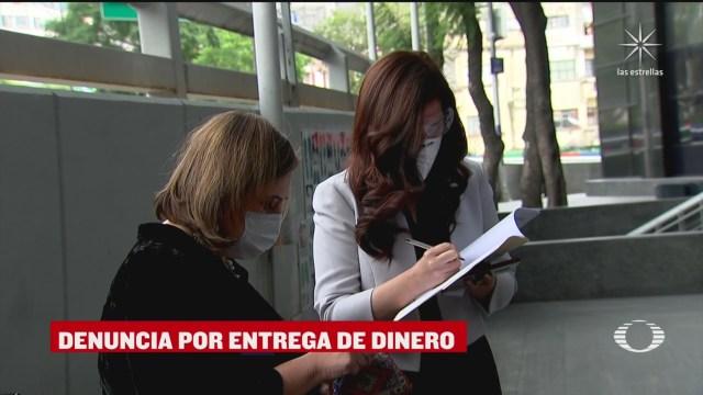 Xóchitl Gálvez y Kenia López del pan presenta denuncia a fgr por videos de pio lopez obrador y david leon