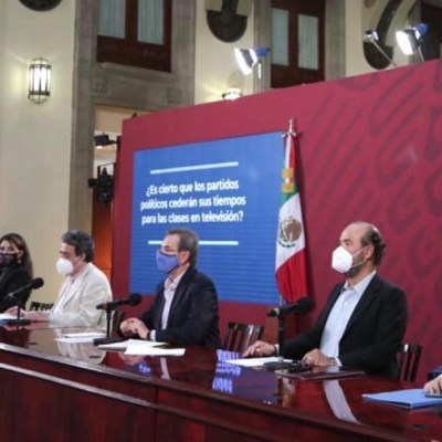 Partidos políticos ceden sus tiempos en televisión para transmisión de clases: SEP