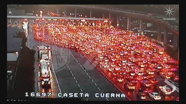 turista de cdmx saturan la caseta México-Cuernavaca en plena contingencia