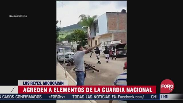 pobladores de michoacan agreden a elementos de la guardia nacional