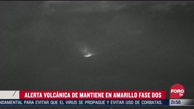 FOTO: 1 de agosto 2020, popocatepetl registra actividad nocturna