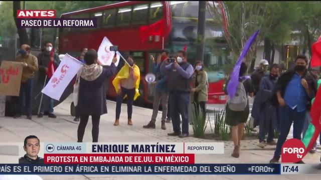 protestan en embajada de eeuu en mexico por ataque a jacob blake