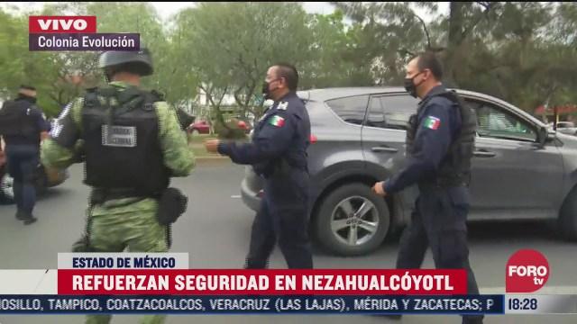 realizan operativo de seguridad en transporte publico en nezahualcoyotl