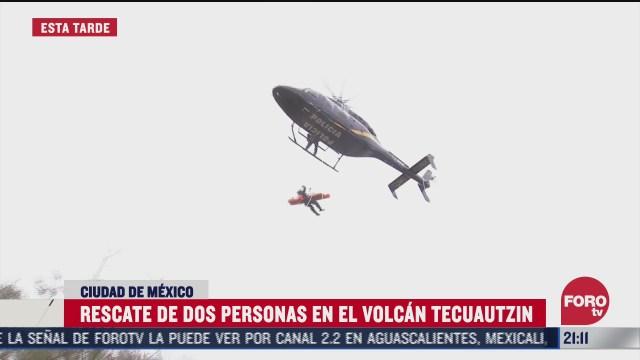 rescatan a turistas en volcan tecuautzin iztapalapa cdmx