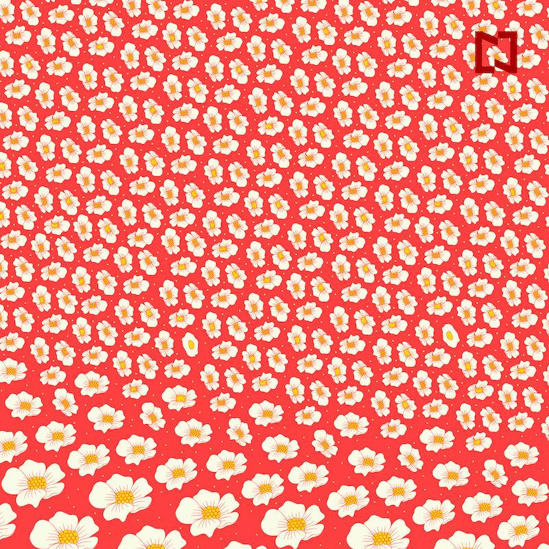 Busca 2 huevos entre las flores, ilustración