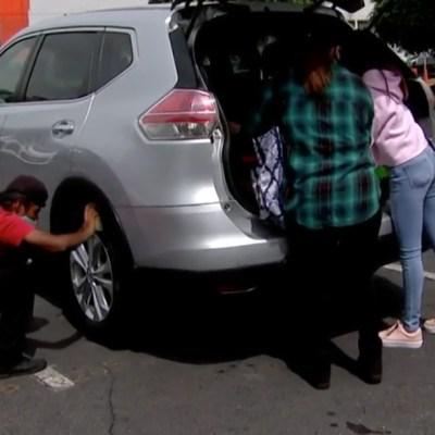 Alertan por robo de despensas en estacionamientos y plazas comerciales de CDMX