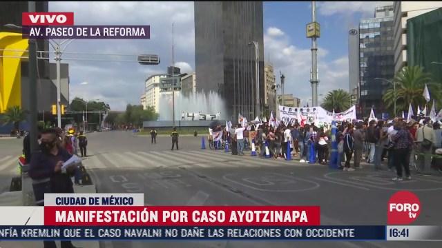 se registra manifestacion por caso ayotzinapa en reforma