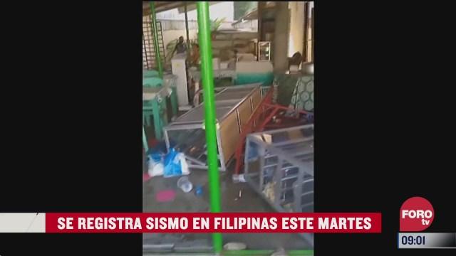 se registra sismo en filipinas