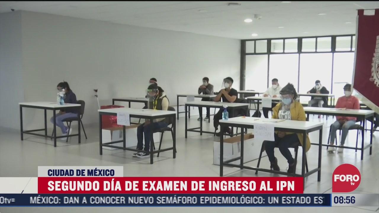 segundo dia de examen de ingreso al ipn