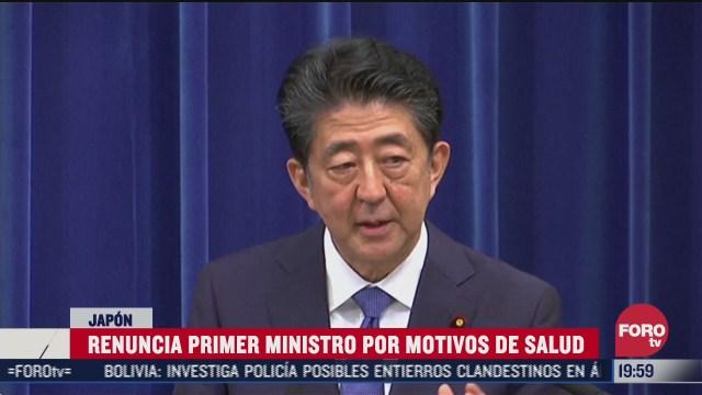 shinzo abe renuncia como primer ministro de japon